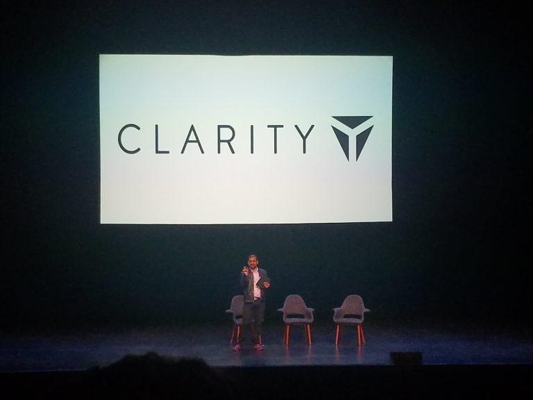 Anil Dash on stage at Clarity 2019